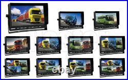 10.1 Quad Car TFT LCD Reversing Monitor 4 Video +4 CCD Backup Cameras 24V-12V