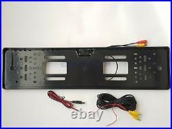 12V Car Parking Rear View Backup Reverse Camera EU European License Plate Frame