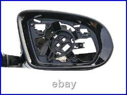16-20 OEM MERCEDES E W213 MIRROR BASE right / BLACK/high gloss / camera