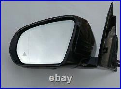16-21 OEM MERCEDES E W213 COMPLETE MIRROR left / BLACK high gloss / camera FULL