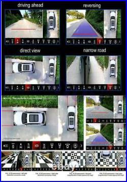 3D Bird View Car 4 Camera Parking System Backup Reverse Driving Assist 360Degree