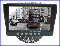 7 Color CCD Rear View Backup Camera System-Reverse System with 2 Video Inputs