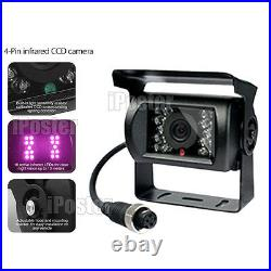 9 Quad Reversing Monitor 4 Video + 4 CCD Backup Cameras 4Pin For Truck Bus Van