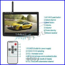 Car Bus Truck Wireless 4 Backup Camera +7 LCD Reverse Monitor Assistance System