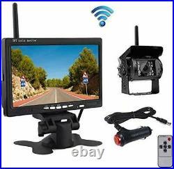 Car Reversing Back Camera Rearview Wireless Kit 7 HD TFT LCD Waterproof Backup