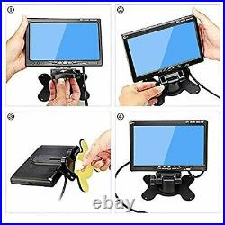 Podofo Vehicle Backup Camera Kit 9 Inches 4 Split Monitor Reversing Camera
