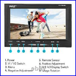 Pyle 7 Inch Rearview Car Backup Camera and Monitor Reverse Assist Kit (2 Pack)