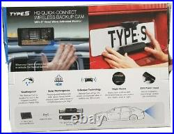 Type S 5 Screen Backup/Reversing Camera Solar Powered Wireless