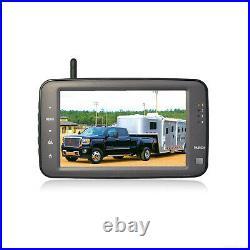 Wireless Reverse Backup Camera System For RV Horse Trailer Truck Van iPoster Kit