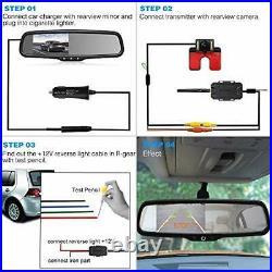 Wireless Reverse Camera Kit Car Backup Camera with Rear View Mirror